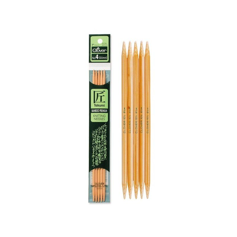 Clover - Takumi Bamboo 7 Double Pointed Knitting Needle Set