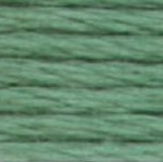 DMC Pearl Cotton Skein Size 5 502 Blue Green