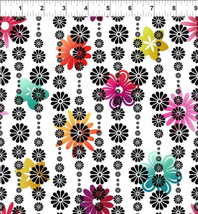 In the Beginning, Groovy Garden - Flower Stripe Multi