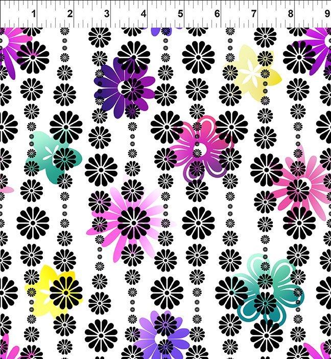 In the Beginning, Groovy Garden - Flower Stripe Purple