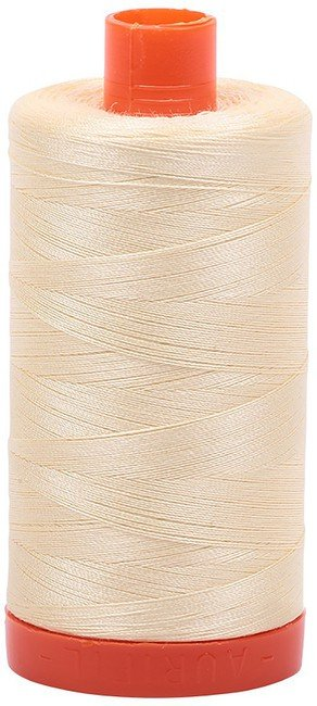 Aurifil - 50WT Cotton Thread -  LT YLW