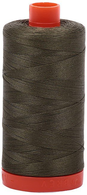 Aurifil - 50WT Cotton Thread -  ARMY GRN