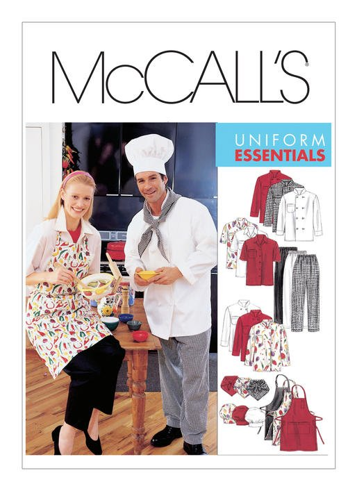 McCall's Pattern - Misses' & Men's Jacket Shirt Apron Pull-On Pants Neckerchief and Hat