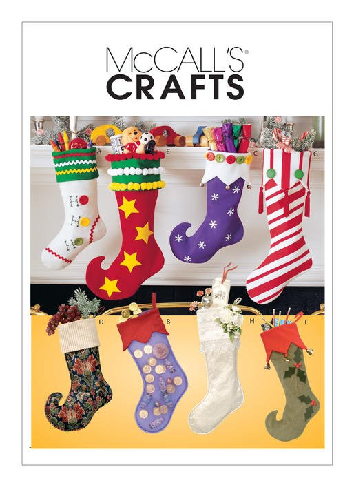 McCall's Pattern - Christmas Stockings in 8 Styles M2991