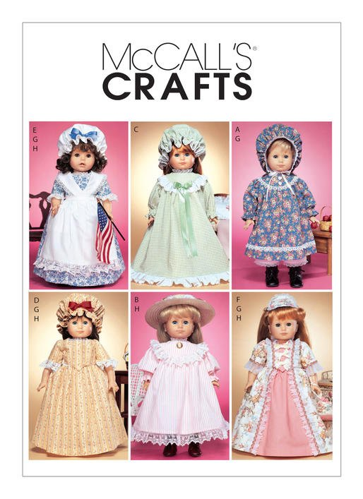 McCall's Pattern - Pioneer Outfits for 18 Doll M3627