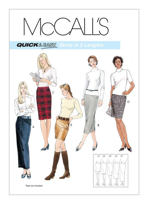 McCall's Pattern -  Misses' Pencil Skirts In Five Lengths M3830
