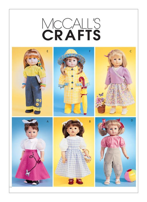 McCall's Pattern - Everyday Outfits for 18 Doll M4066