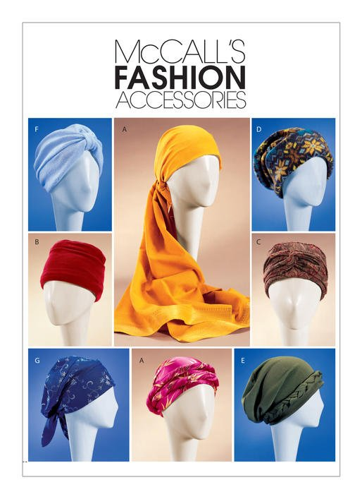 McCall's Pattern - Turban Headwrap and Caps M4116