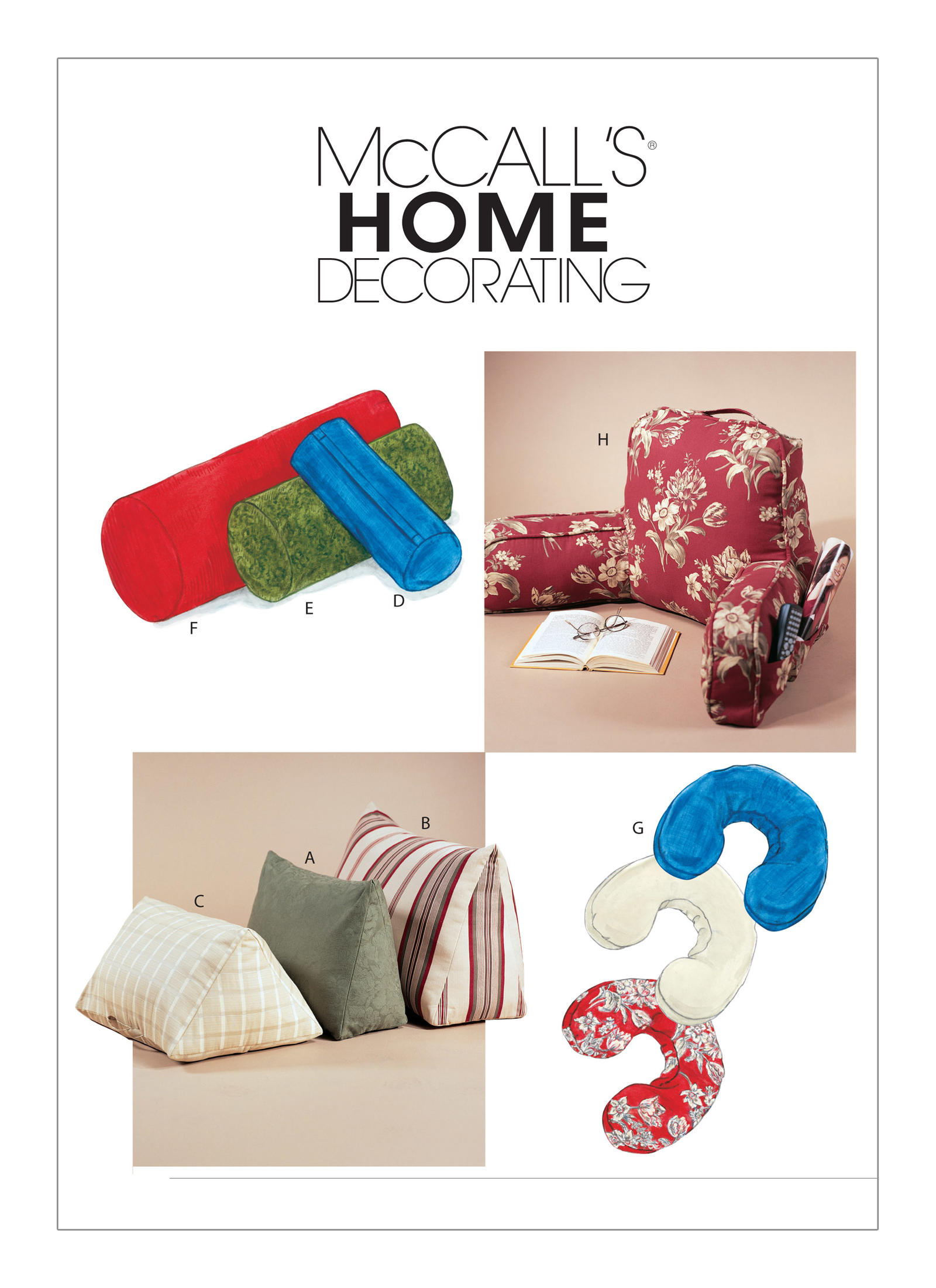 McCall's Pattern - Bed Rest Pillows Bolsters and Neck Pillow M4123