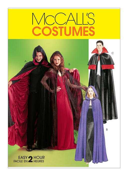 McCall's Pattern - Lined & Unlined Cape Costumes M4139