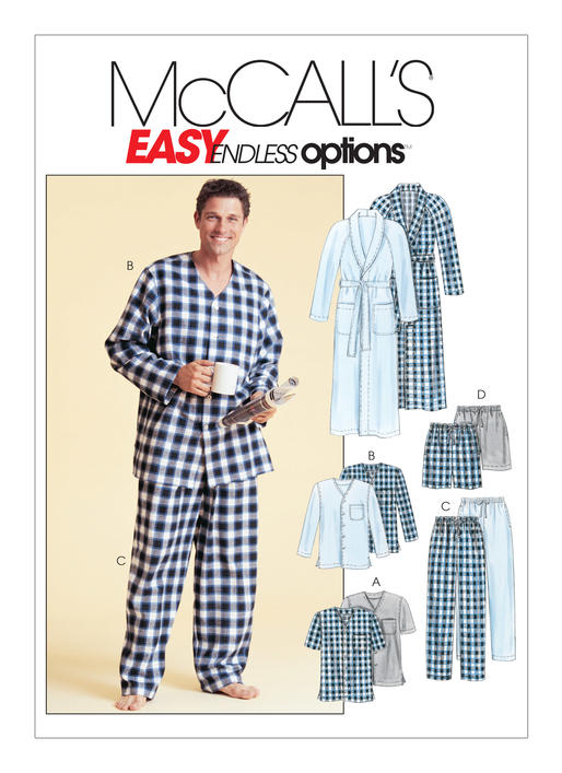 McCall's Pattern - Men's Robe Belt Tops Pants and Shorts M4244