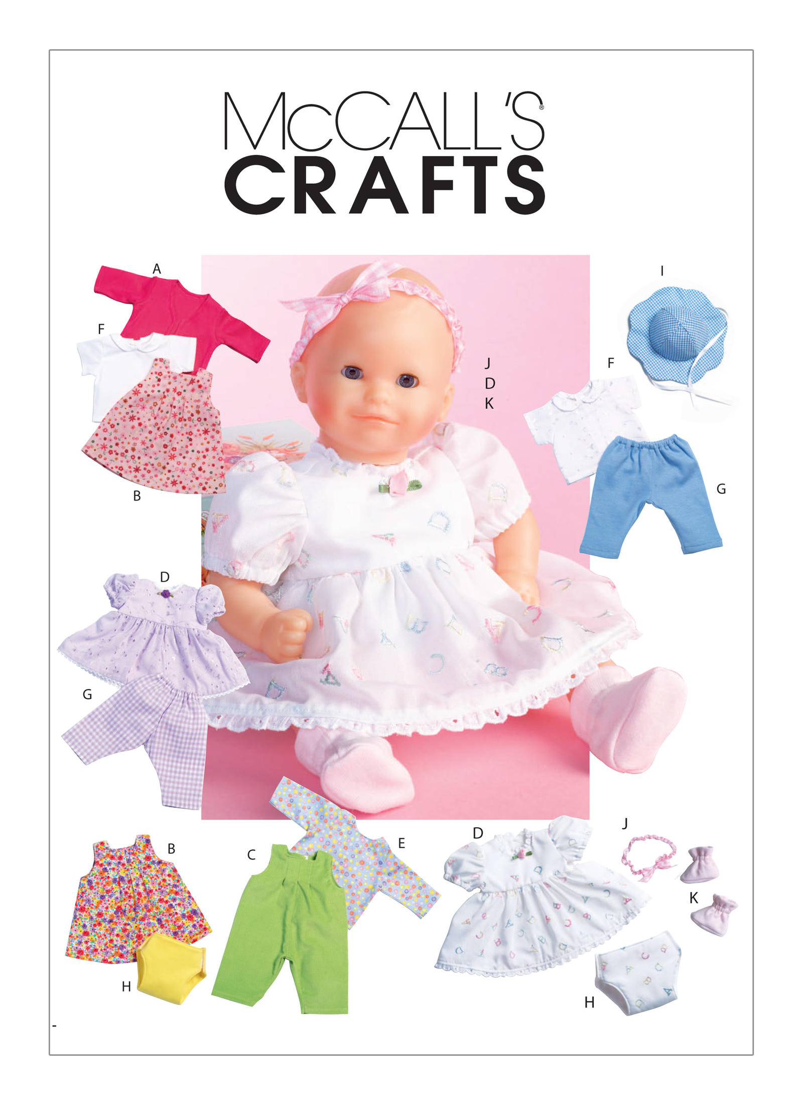 McCall's Pattern - Casual Baby Doll Clothes M4338