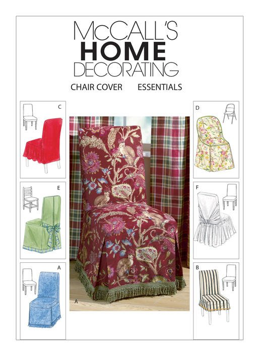 McCall's Pattern - Chair Cover in 6 Styles M4404