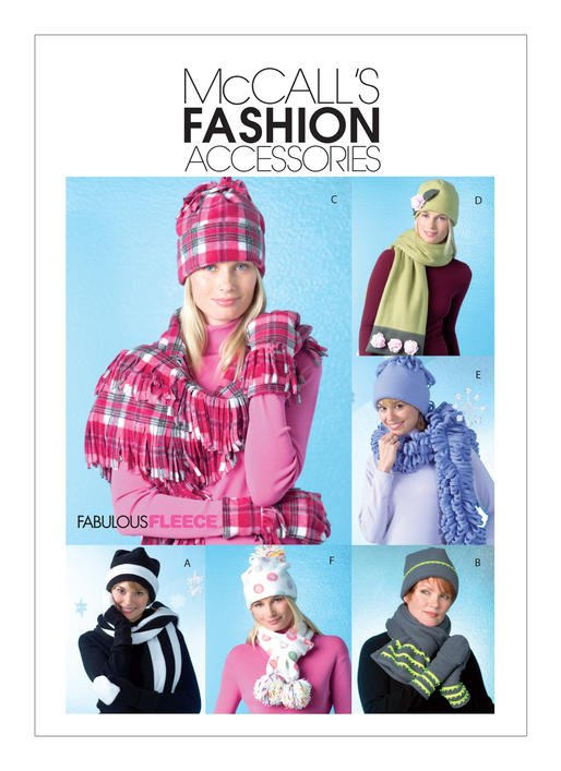 McCall's Pattern - Cozy Hats Scarves and Convertible Mittens M4681