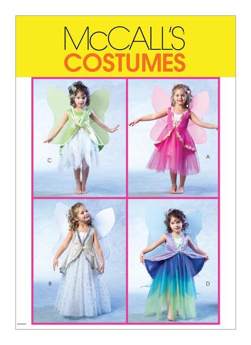 McCall's Pattern - Children's/Girls' Fairy Costumes M4887