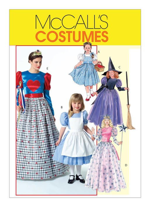 McCall's Patterns -  Misses'/Children's/Girls' Storybook Costumes M4948