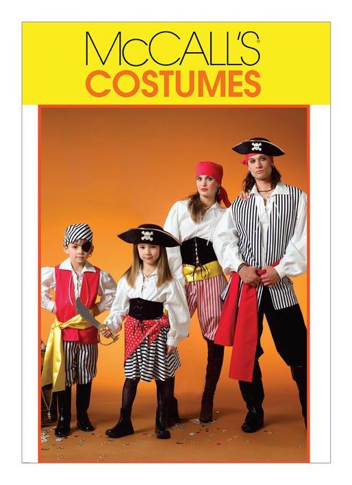 McCall's Pattern - Pirate Costumes M4952