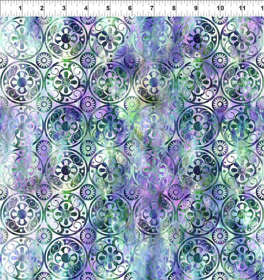 In the Beginning, Floragraphix V - Medallions Green/Purple