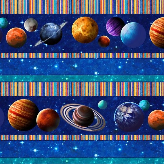 Across the Universe Fabric Border Stripe by Northcott