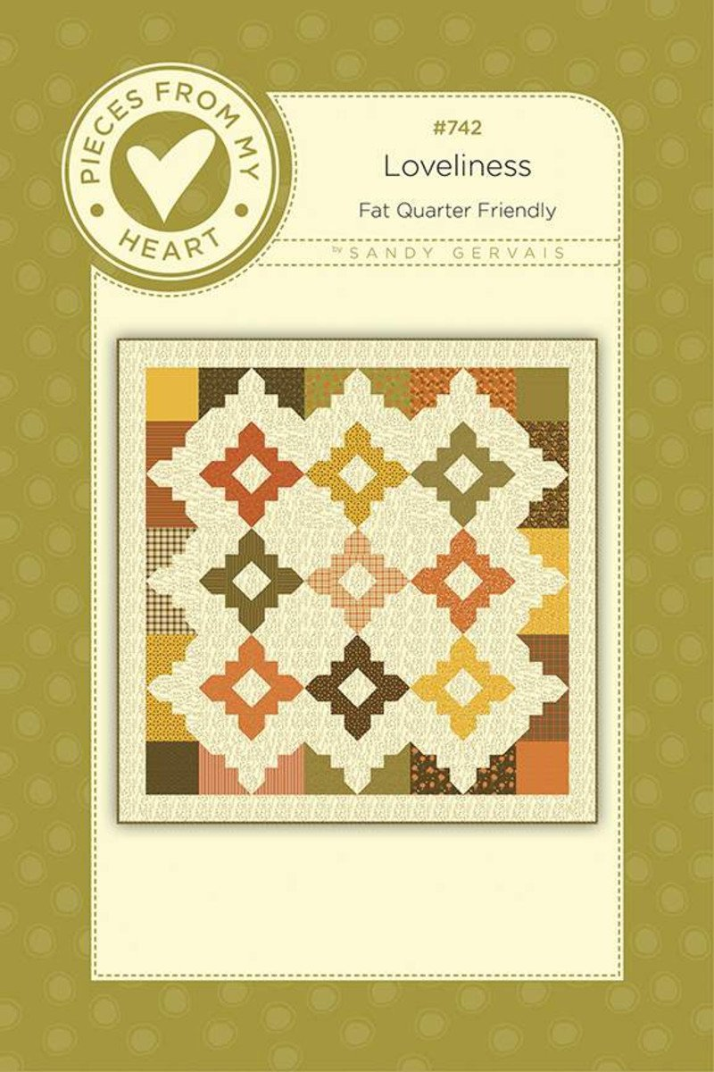 Fat Quarter Friendly! Loveliness Quilt Pattern - Pieces from my Heart
