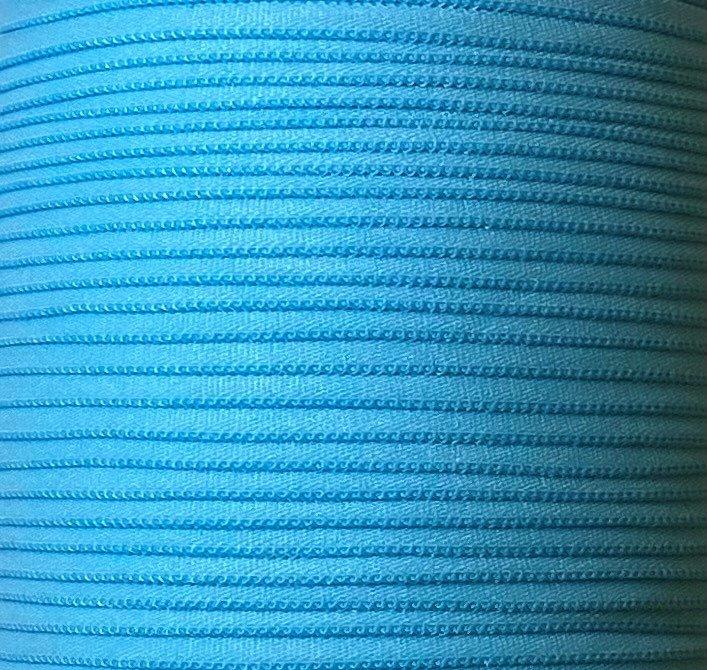 1/6 inch Banded Tube Elastic LIGHT BLUE - 10 yards