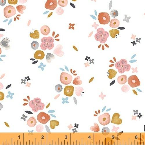 WINDHAM FABRICS, Kenzie - Baby Bouquets White