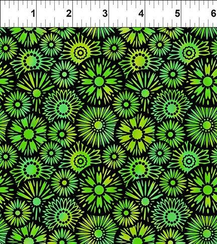 In The Beginning, Unusual Garden II - Blooms Green/Black