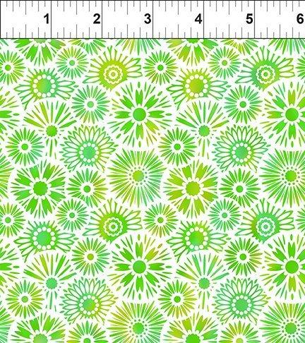 In The Beginning, Unusual Garden II - Blooms Green/White