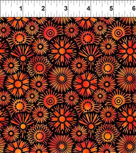 In The Beginning, Unusual Garden II - Blooms Orange/Black