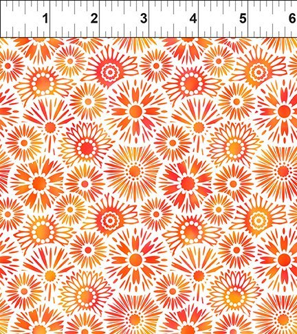 In The Beginning, Unusual Garden II - Blooms Orange/White