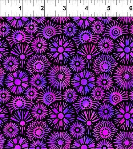 In The Beginning, Unusual Garden II - Blooms Purple/Black