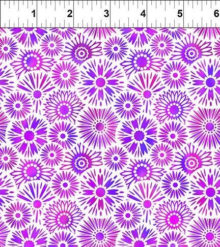 In The Beginning, Unusual Garden II - Blooms Purple/White