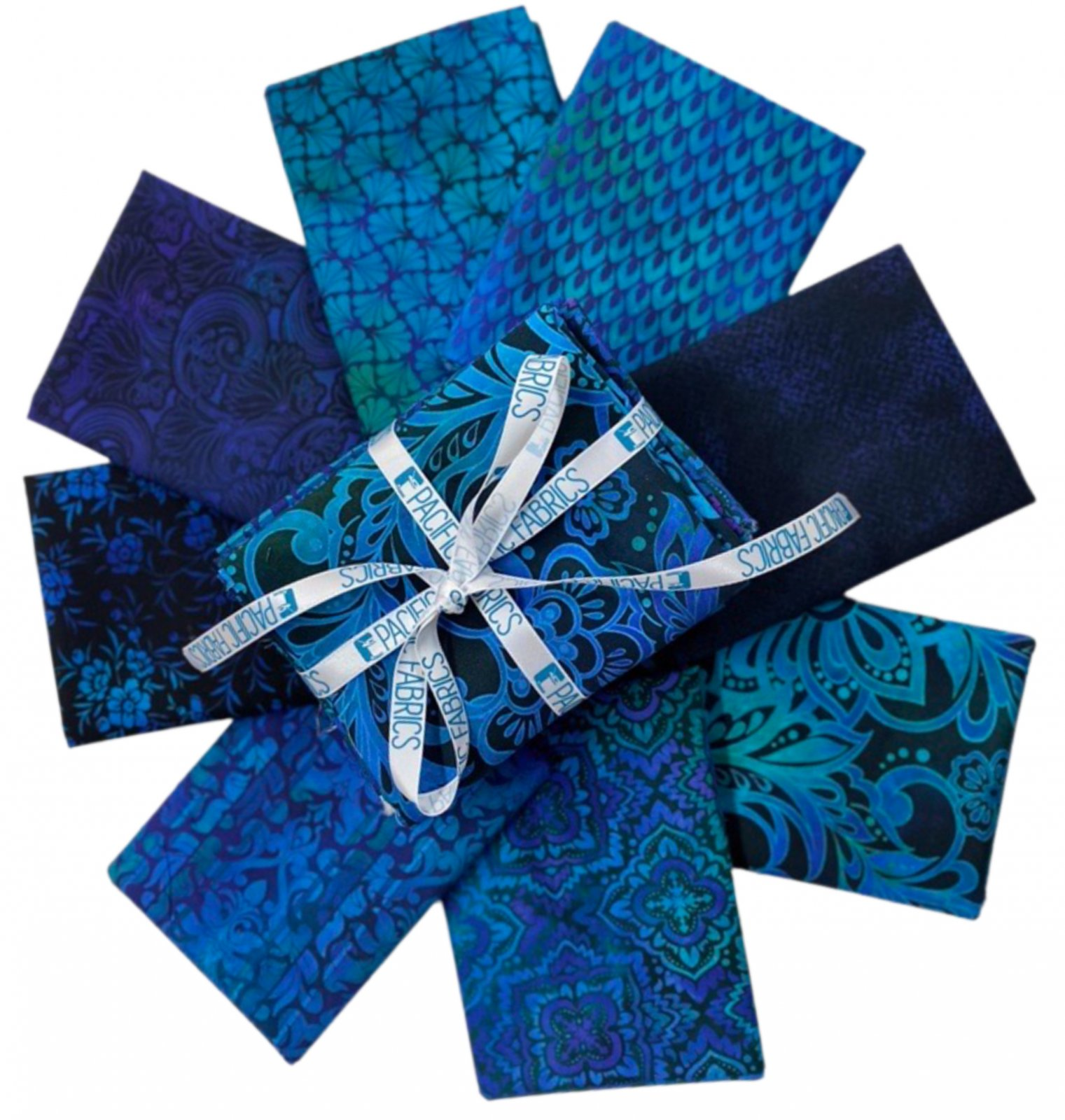 In the Beginning, Tapestry in BLUE Fat Quarter Bundle 8 pc