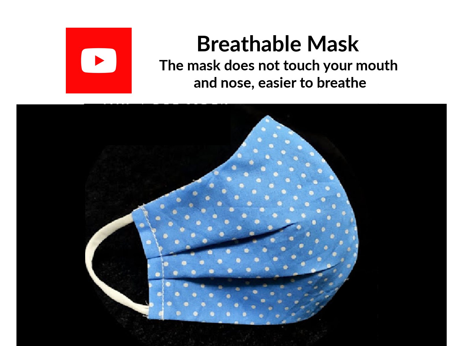 Breathable Mask  The mask does not touch your mouth and nose, easier to breathe
