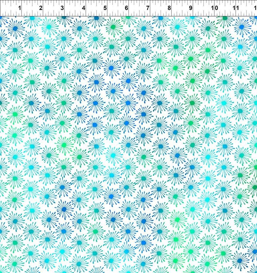 In The Beginning, Unusual Garden II - Burst Blue/White
