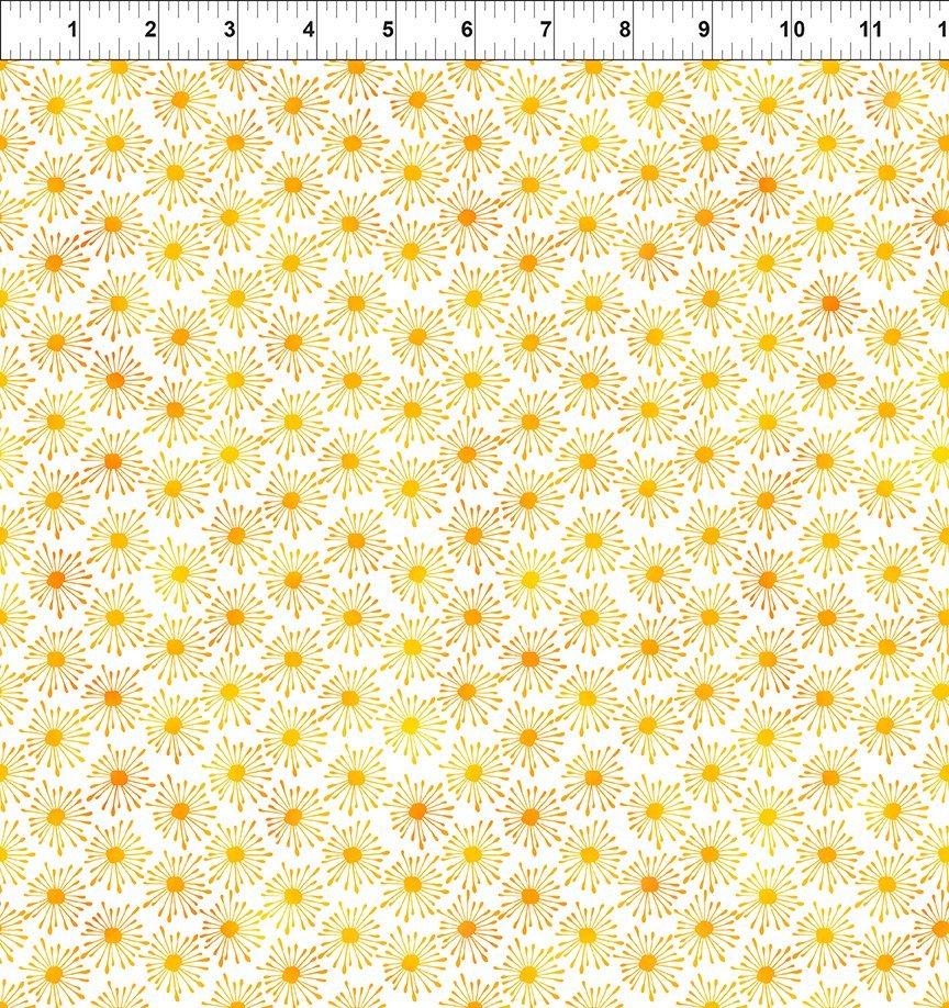 In The Beginning, Unusual Garden II - Burst Yellow/White