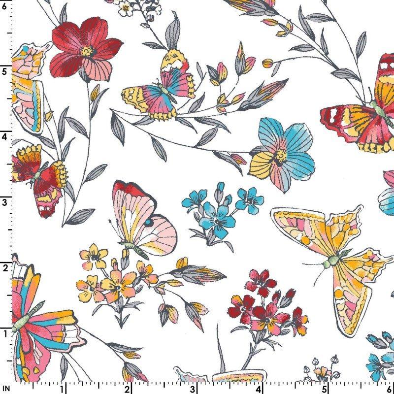 Maywood Studio, Meadow Edge - Butterflies White