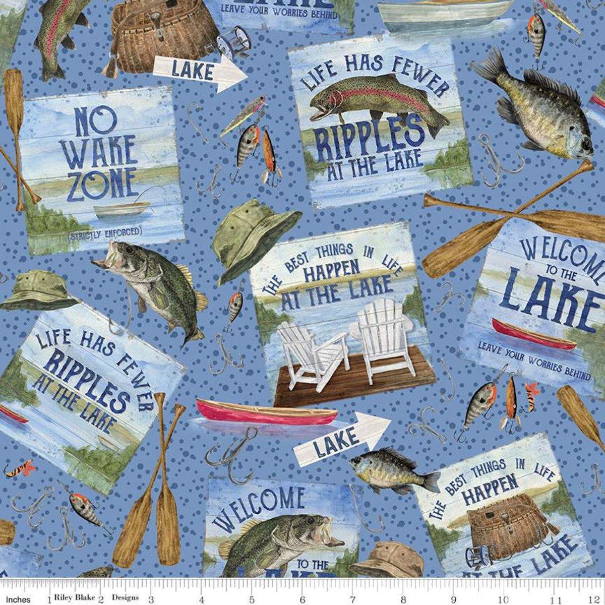 Riley Blake Designs, At the Lake - Main Blue