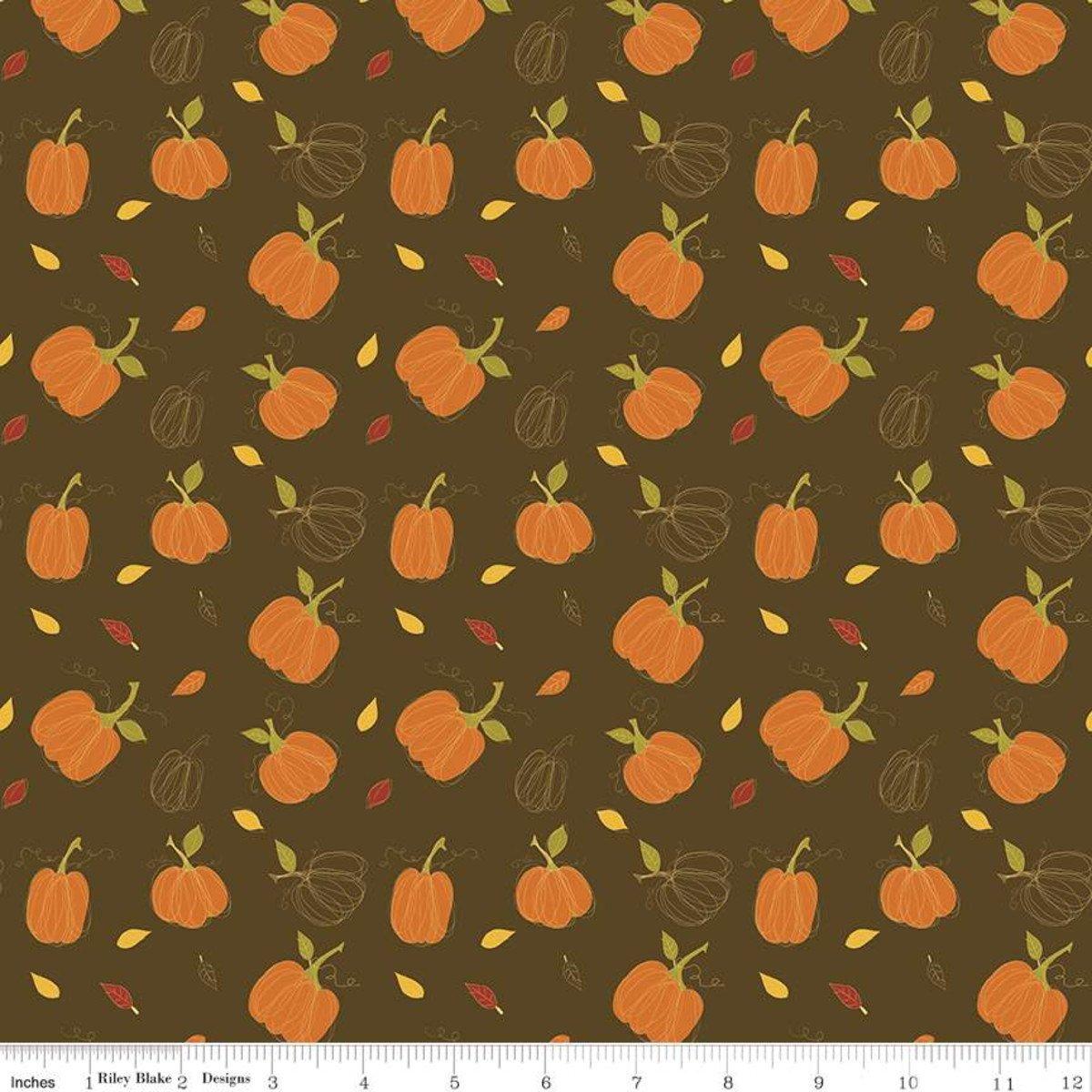 Riley Blake, Adel in Autumn - Pumpkins Chocolate