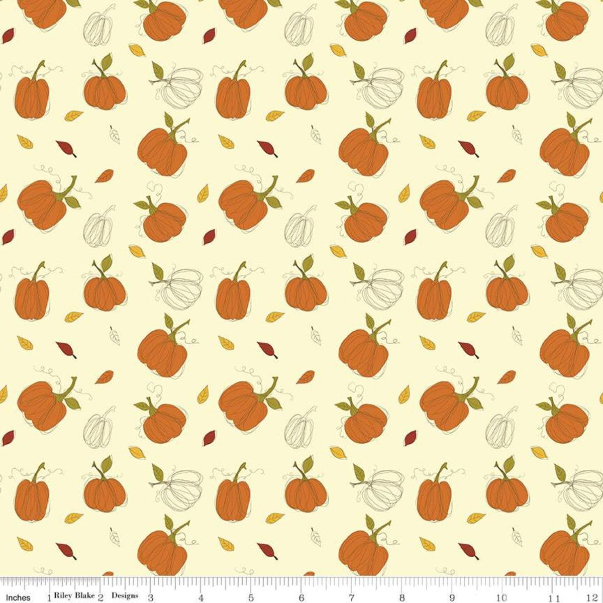 Riley Blake, Adel in Autumn - Pumpkins Cream