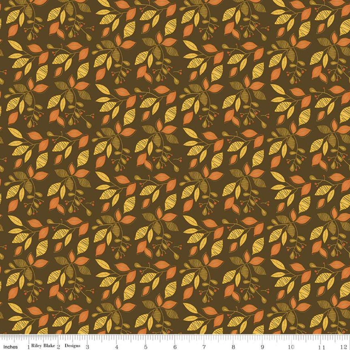 Riley Blake, Adel in Autumn - Leaves Chocolate