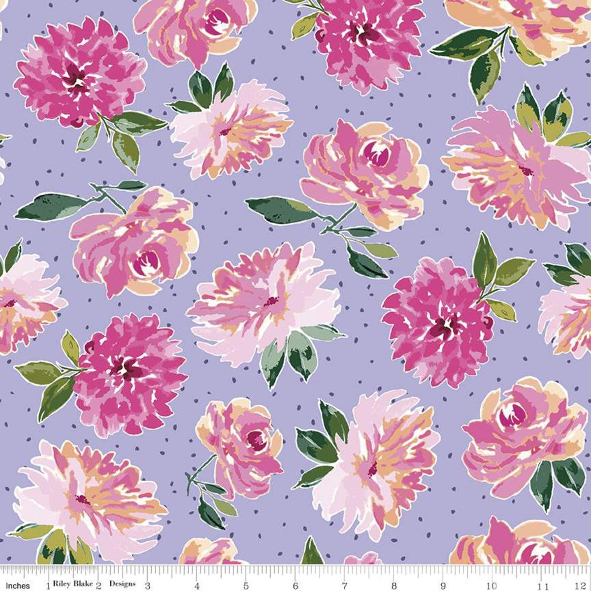 Riley Blake Designs, Lucy June -  Flowers Lilac