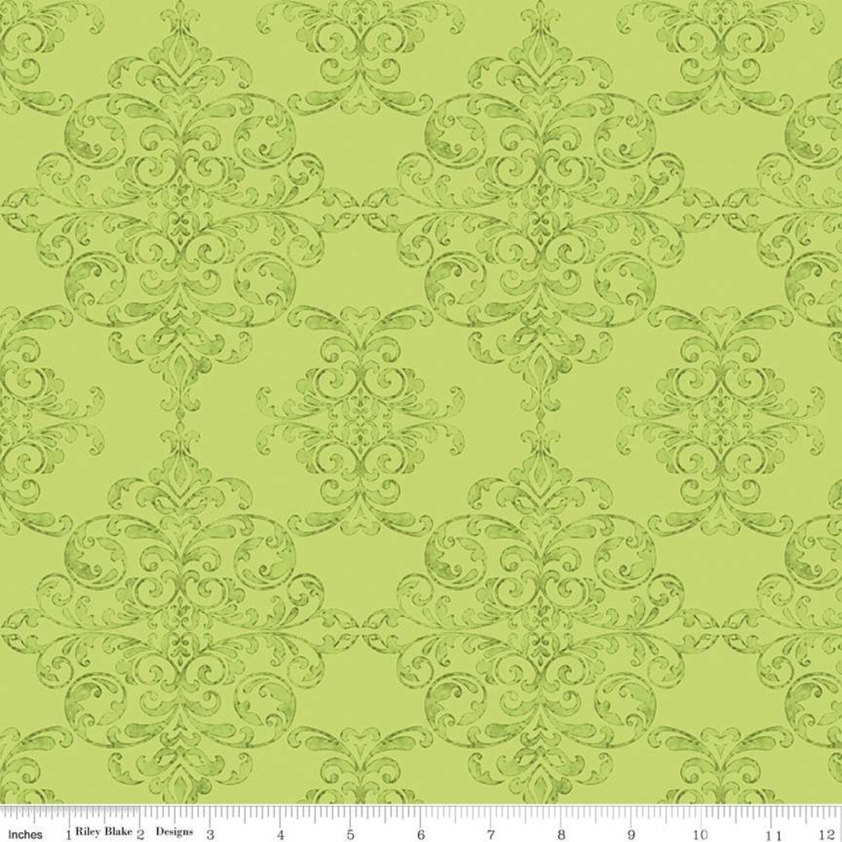 Riley Blake Designs, Lucy June -  Damask Lime