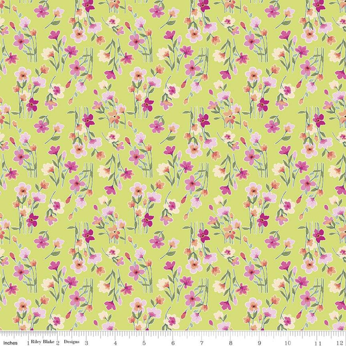 Riley Blake Designs, Lucy June -  Stems Lime