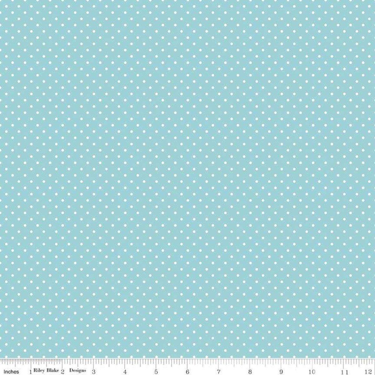 Riley Blake Designs, Swiss Dot - Swiss Dot Aqua