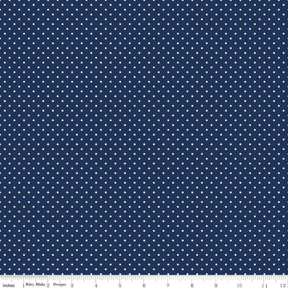 Riley Blake Designs, Swiss Dot - Swiss Dot Navy