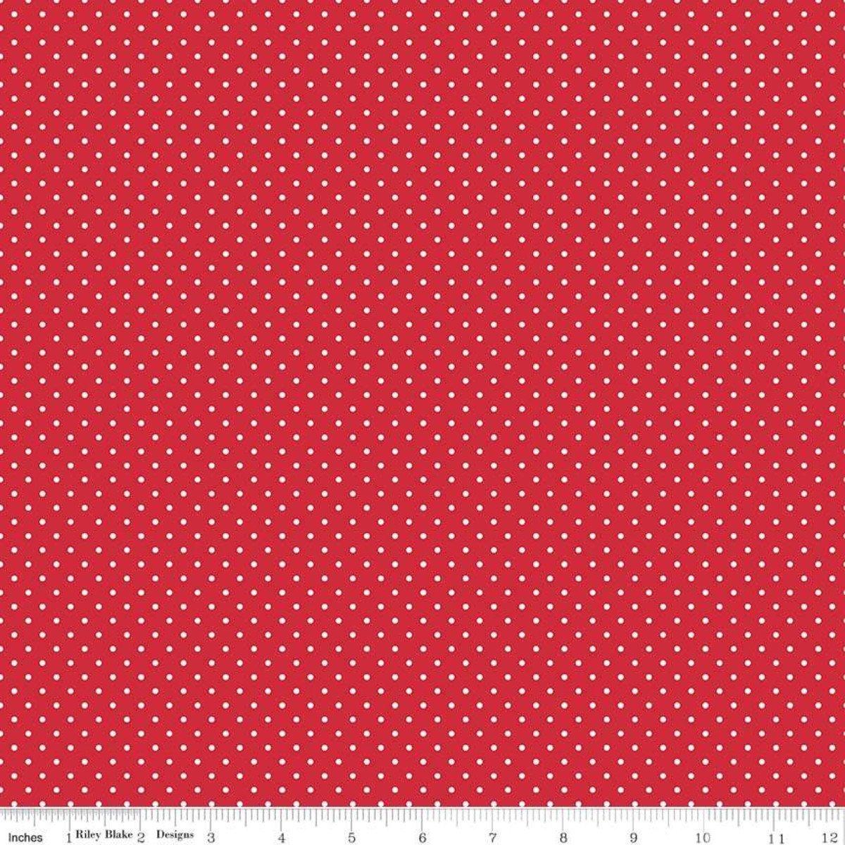 Riley Blake Designs, Swiss Dot - Swiss Dot Red