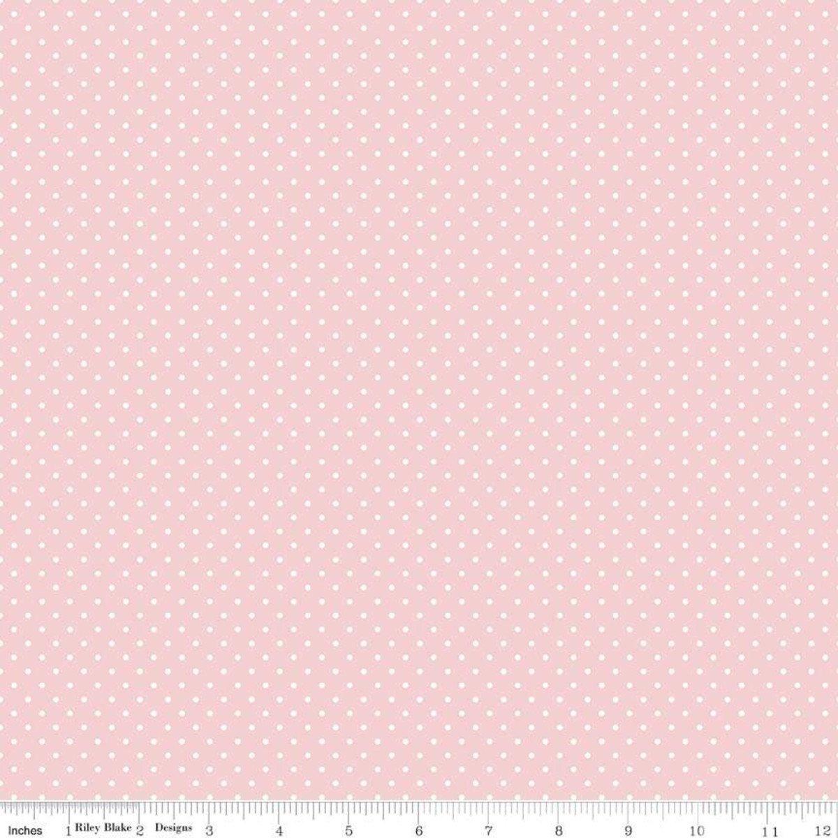 Riley Blake Designs, Swiss Dot - Swiss Dot Baby Pink