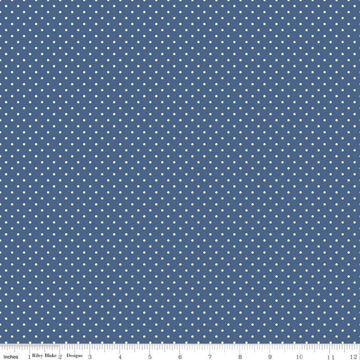 Riley Blake Designs, Swiss Dot - Swiss Dot Denim