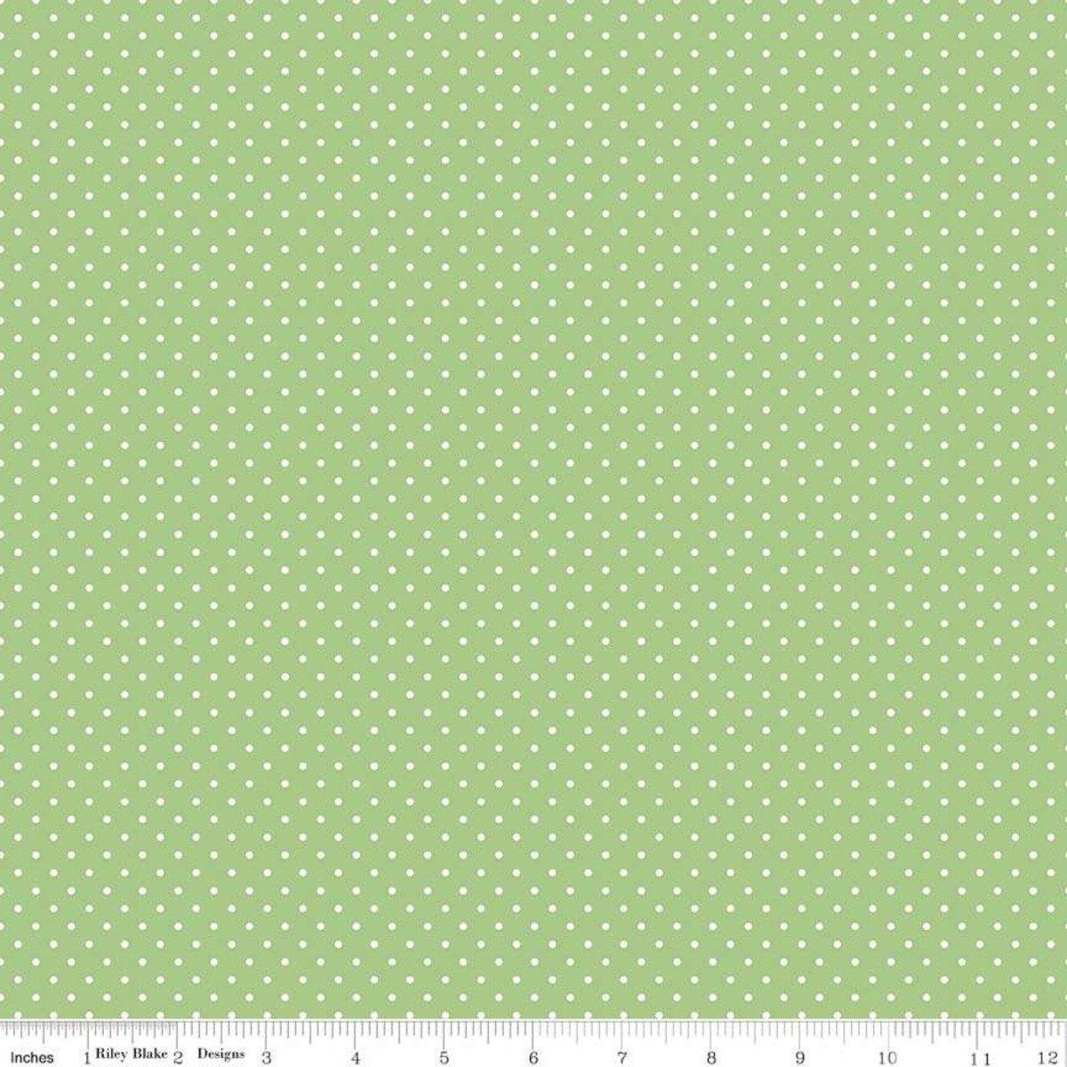 Riley Blake Designs, Swiss Dot - Swiss Dot Green